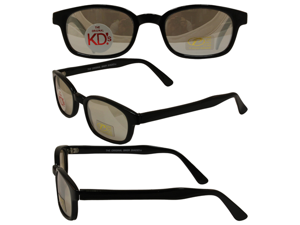 Original KD's Biker Sunglasses with Clear Silver Mirror Lenses