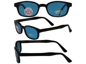 Original KD's Biker Sunglasses with Tourquise Lenses