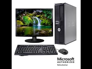 "Dell Optiplex 745 Desktop Computer Package - 17"" LCD - 2.8GHz Pentium D 2GB 250GB WIFI Windows 7 Home Premium"