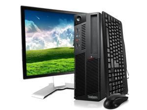 Lenovo Black ThinkCentre M90 Desktop Intel i5 Dual Core 3.2GHz 8GB RAM 2TB HDD Intel HD Graphics DVD-RW Windows 10 Professional 19'' Display Keyboard Mouse