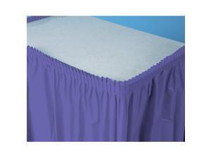 Perfect Purple (Purple) Plastic Table Skirt - plastic