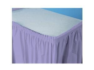 Luscious Lavender (Lavender) Plastic Table Skirt - plastic