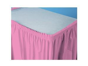 Candy Pink (Hot Pink) Plastic Table Skirt - plastic