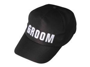 Groom Baseball Cap - Black - Polyester