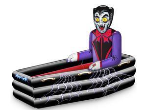 Halloween Inflatable Dracula Coffin Cooler - Black