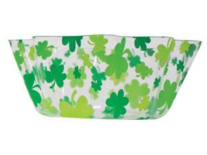 St. Patrick'&#59;s Day Fluted Bowl - Plastic-pvc