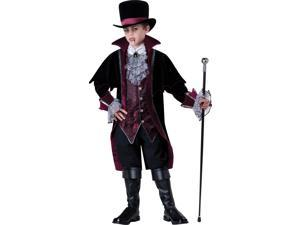 Vampire Of Versailles Child Costume - Black - Size 6 - 100% Polyester