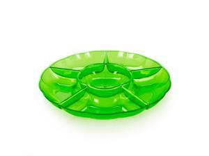 "12"" Lemon Lime Small Plastic Section Tray - plastic"