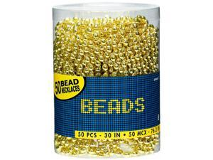 Bead Necklaces - Gold - plastic