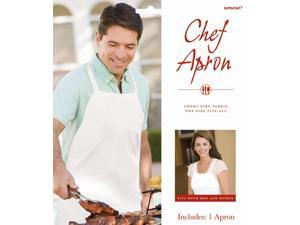 Chef Apron - White - Polyester