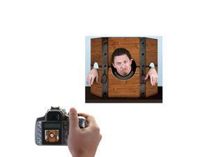 Medieval Stockade Photo Prop - Cardboard