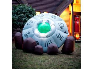 Inflatable Crashed Ufo - Black/green
