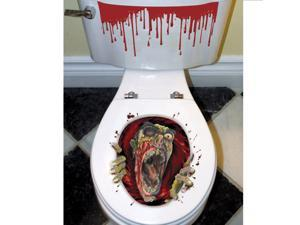Halloween Zombie Toilet Grabber Decoration - Plastic