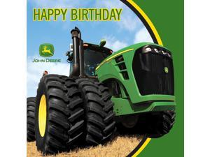 John Deere Tractor - Happy Birthday Lunch Napkins - Paper