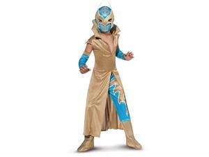 Wwe Deluxe Sin Cara Child Costume - Blue/gold - Large (12-14)