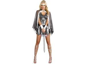 One Hot Knight Adult Costume - Silver - Medium