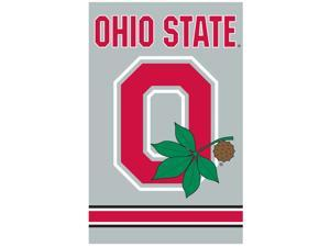Party Animal, Inc. AFOSU2 Applique Banner Flag - Ohio State with block O GRAY