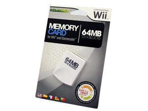 KMD - Wii 64MB  Memory Card Gamecube Compatible 1019 Blocks