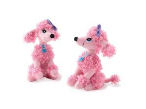 Pink Poodle Mini Plush (1) - Pink