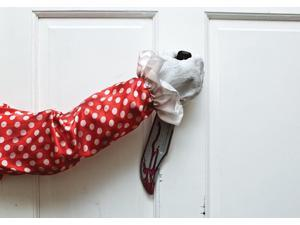 Clown Animated Door Knocker - Red And White