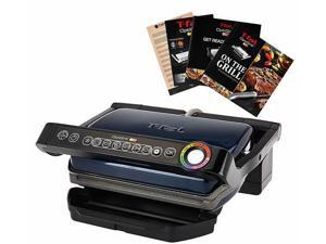 T-Fal GC704 Opti Grill with Ceramic Plates & Recipe Book - Blue
