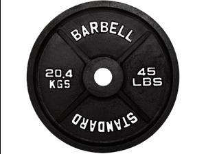 USA Sports Black Olympic 45lb Plate