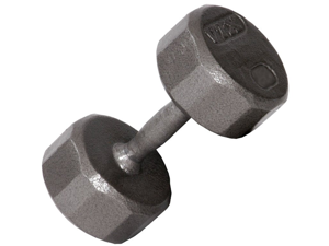 VTX 70lb Individual 12-Sided Cast Iron dumbbell