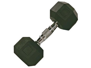 VTX 15lb Individual Rubber Encased Octagonal dumbbell