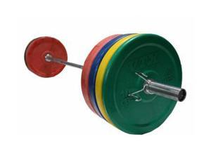 VTX 375lb Colored Rubber Bumper Plate Weight Set