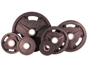 VTX 255lb Rubber Encased Olympic Plate Set
