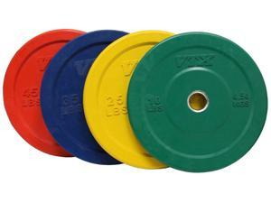 VTX 235lb Colored Solid Rubber Bumper Plate Set