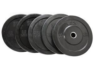 VTX 235lb USA Sports Black Solid Rubber Bumper Plate Set