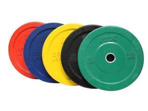 VTX 260lb Colored Solid Rubber Bumper Plate Set