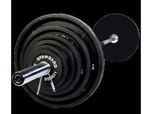 USA Sports 500lb Black Olympic Weight Set with Chrome Bar