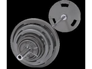 VTX 400lb Olympic Grip Plate Weight Set with Chrome Bar