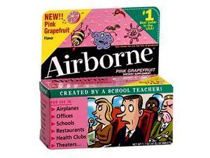 Airborne Tablets Pink Grapefruit - 10 ct