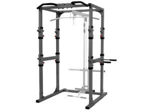 XMark Comm. Power Cage with Dip Station and Pull-up Bar