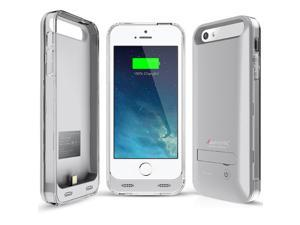 iPhone 5S Battery Case - Alpatronix BX120 iPhone 5 Battery Case - MFi Apple Certified 2400mAh External iPhone 5S Battery Case Removable, Rechargeable Protective iPhone 5S Charging Case