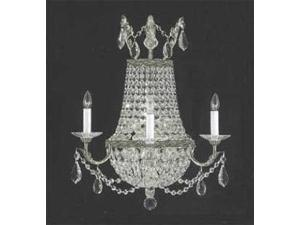 "EMPIRE CRYSTAL WALL SCONCE LIGHTING W 9.5"" H 9"" D 5"""