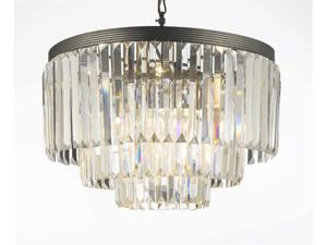 Odeon Crystal Glass Fringe 3-tier Chandelier Chandeliers Lighting