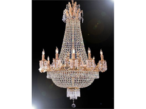 """French Empire Crystal Chandelier Chandeliers H32"""" X W25"""""""