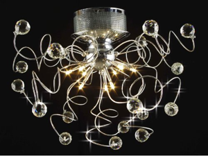 9 Light Contemporary K9 Crystal Chandelier Lighting (Bulb Included), Chrome