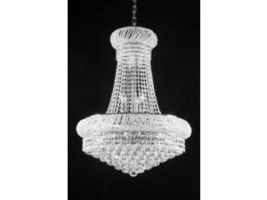 "French Empire Crystal Chandelier Lighting H 20"" W 16"""