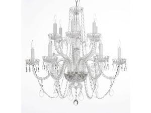 "Chandelier Lighting Crystal Chandeliers H27"" X W32"""