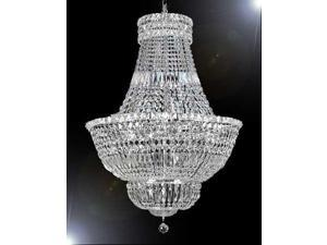 "FRENCH EMPIRE CRYSTAL CHANDELIER LIGHTING H36"" W30"""