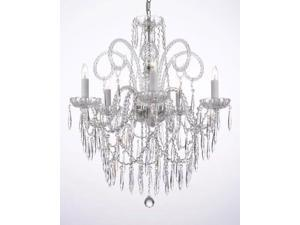 ALL CRYSTAL CHANDELIER LIGHTING CHANDELIERS W/ CRYSTAL ICICLES!