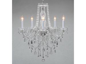 "Authentic All Crystal Chandelier Chandeliers Lighting H30"" X W24"""
