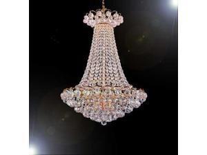"Swarovski Crystal Trimmed Chandelier! French Empire Crystal Chandelier Chandeliers Lighting W/ Crystal Balls! H36"" X W30"""