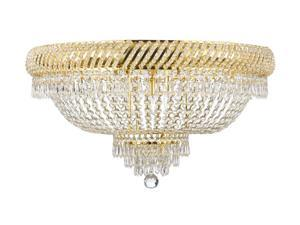 "French Empire Crystal Semi Flush Chandelier Chandeliers Lighting H18"" X W27"""