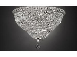 "Flush French Empire Crystal Chandelier Lighting H22"" W30"""